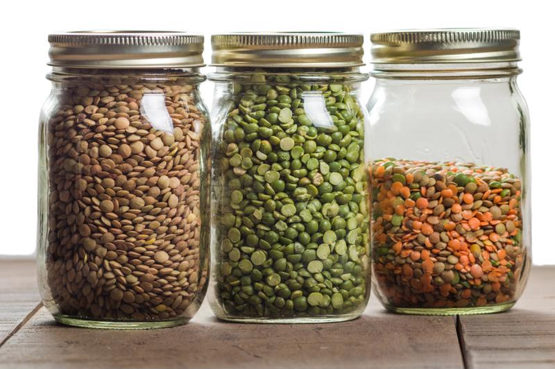 Lentils are loaded with iron.