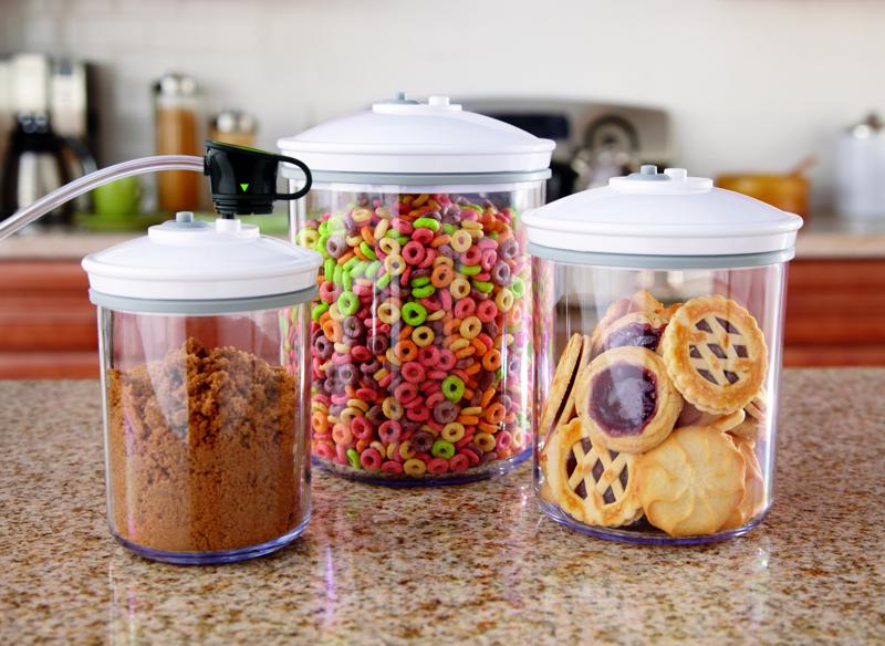 Cookies, cereal and spices are perfect for saving and sealing using your jar sealer.