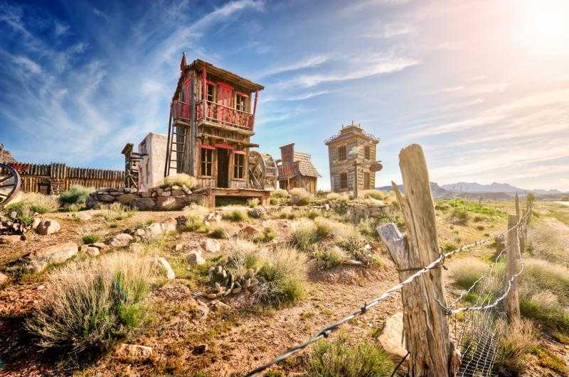 Stop by Oatman Ghost Town to see cowboys duel at high noon.