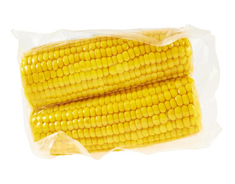 Vacuum sealed corn will stay fresh for over one year.