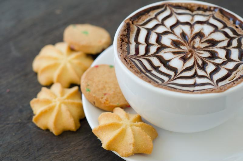 Serve coffee with some light snacks.