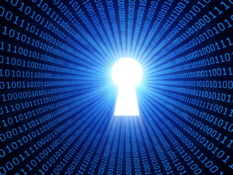 data keyhole illustration