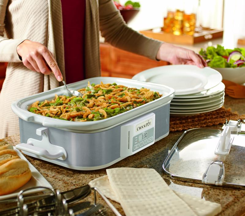 Use your Crock-Pot® Programmable Casserole Crock Slow Cooker for extra convenience.