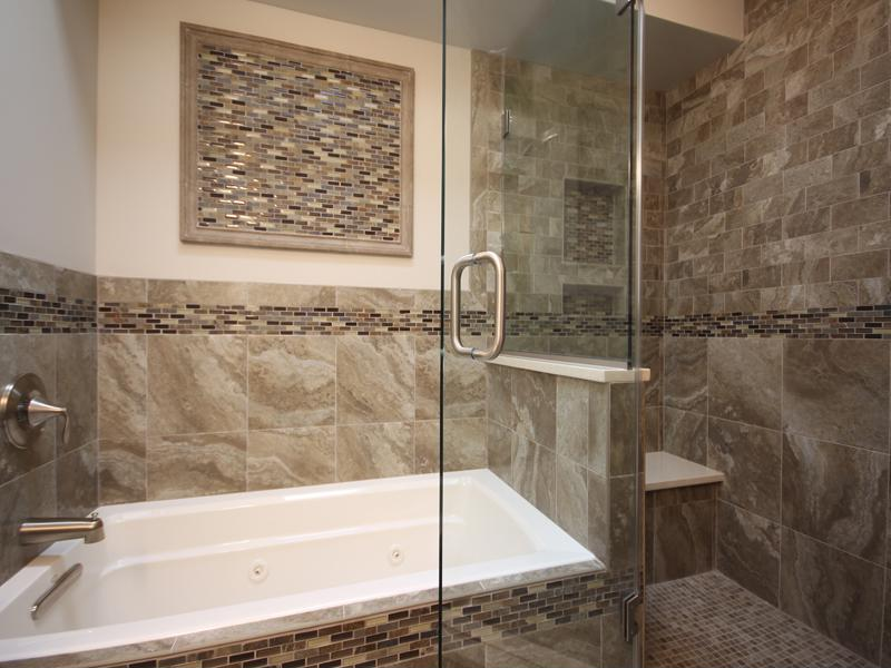 Use a joint shower and bathtub if there isn't room for both.