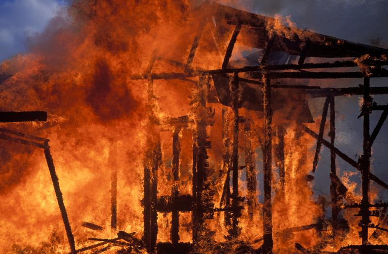 Disaster recovery planning mitigates the risk of events like a fire.
