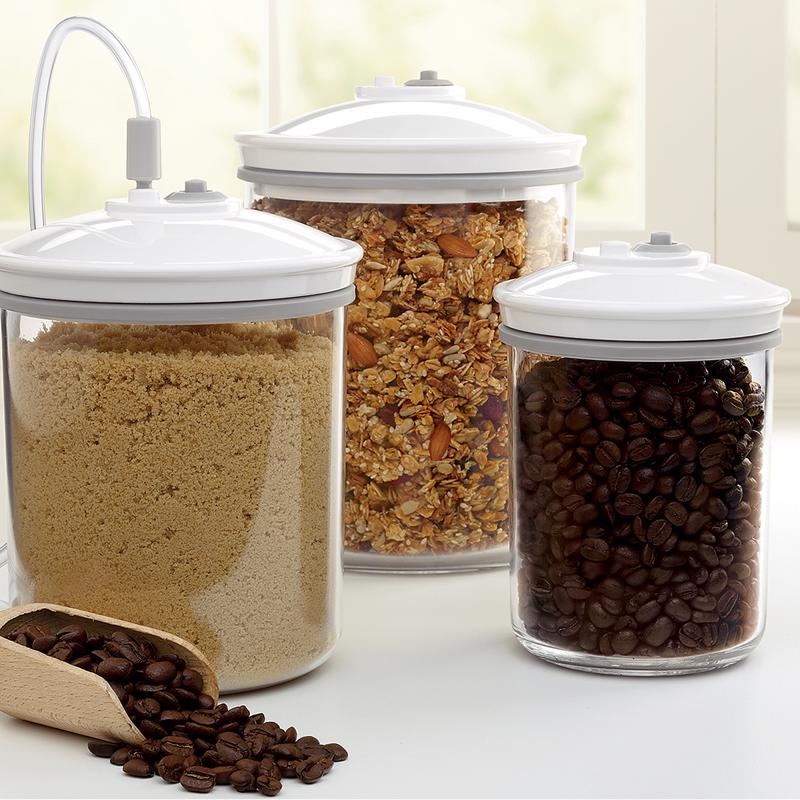 Brown sugar, granola, coffee beans - use a vacuum seal to keep your ingredients fresher than ever.