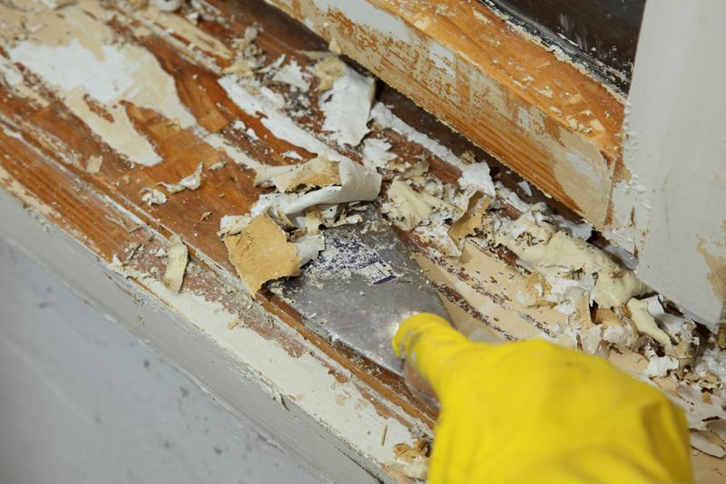 A Master Appliance heat gun can make paint removal simpler.