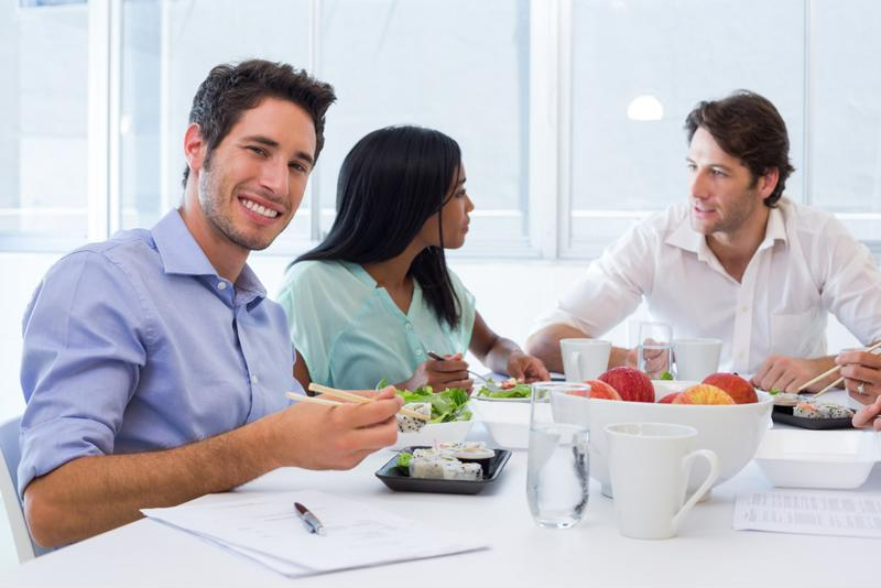Lunchtime is perfect for meeting your new colleagues.
