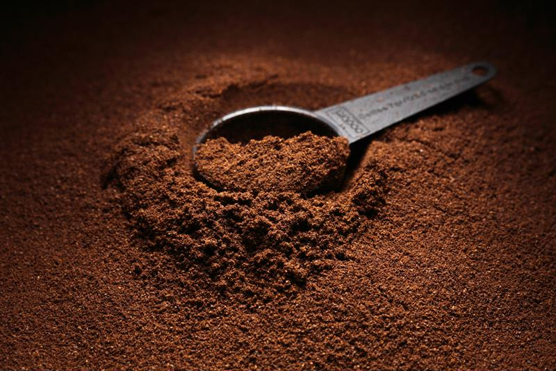 Coffee grounds should be kept in a sealed container.
