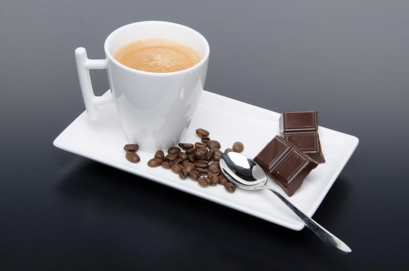 You don't need to make things complicated. Bite of chocolate, sip of coffee, done.