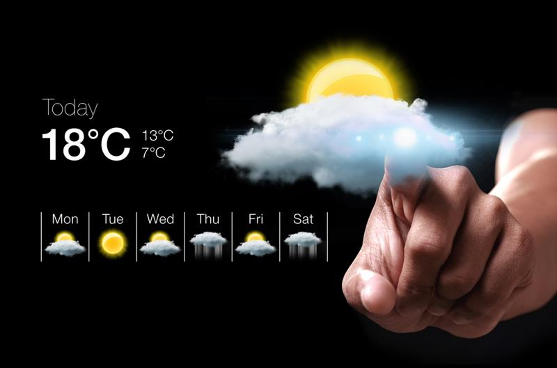 Smartphones and other wearables can act as localized weather data sensors.