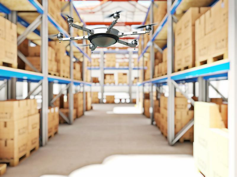 Drones have to be connected to a warehouse network to accurately log delivery and pick selection.