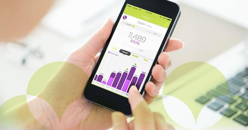 The nuyu™app allows you to look back at the number of steps you took each day.