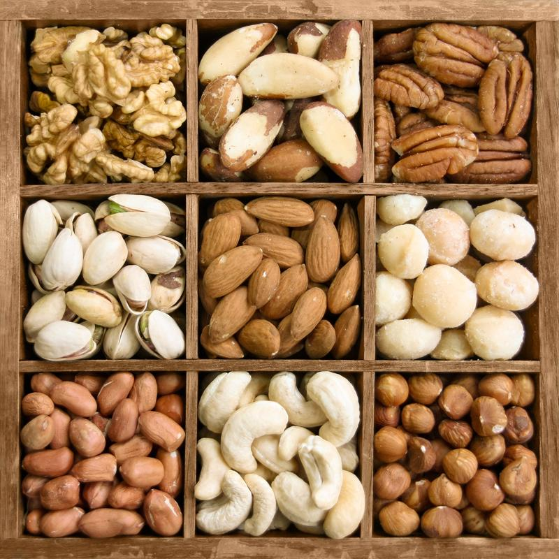 Mixed nuts make an excellent heart-healthy snack.