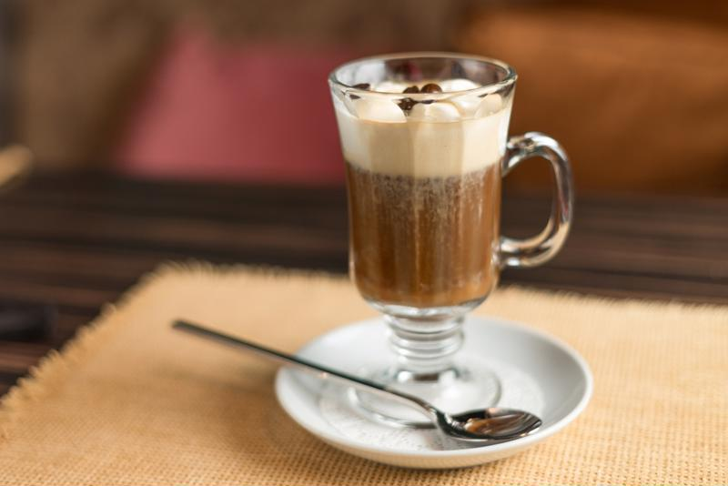 Irish coffee is the classic after-dinner hot drink.