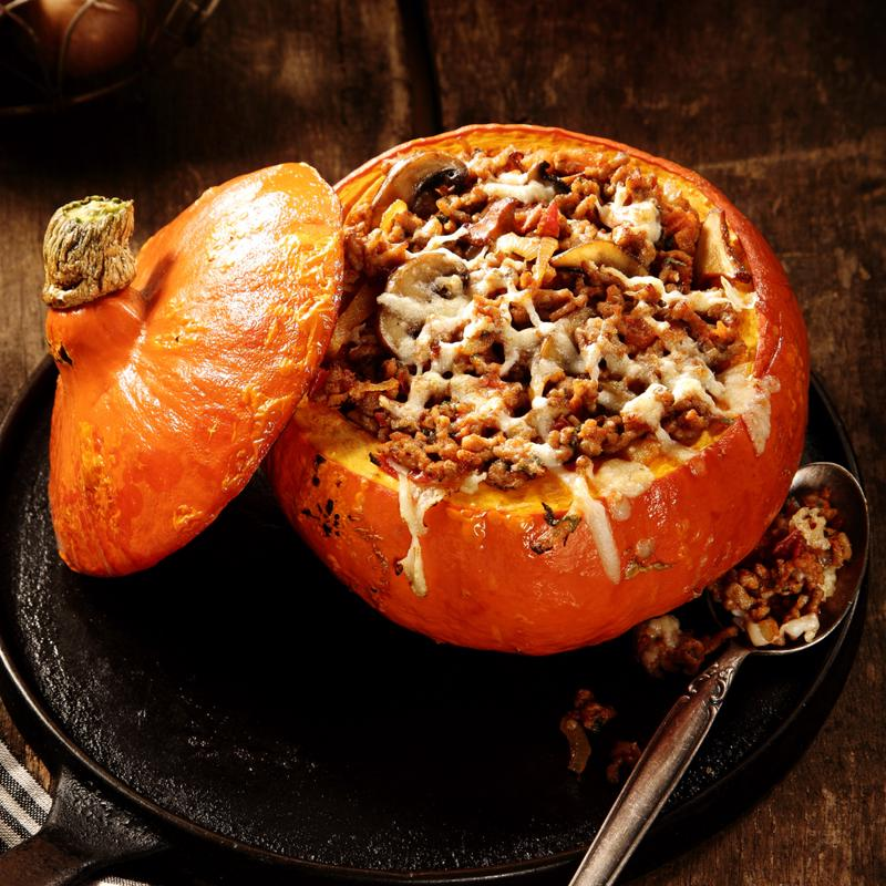 You can bake right inside of your pumpkin.