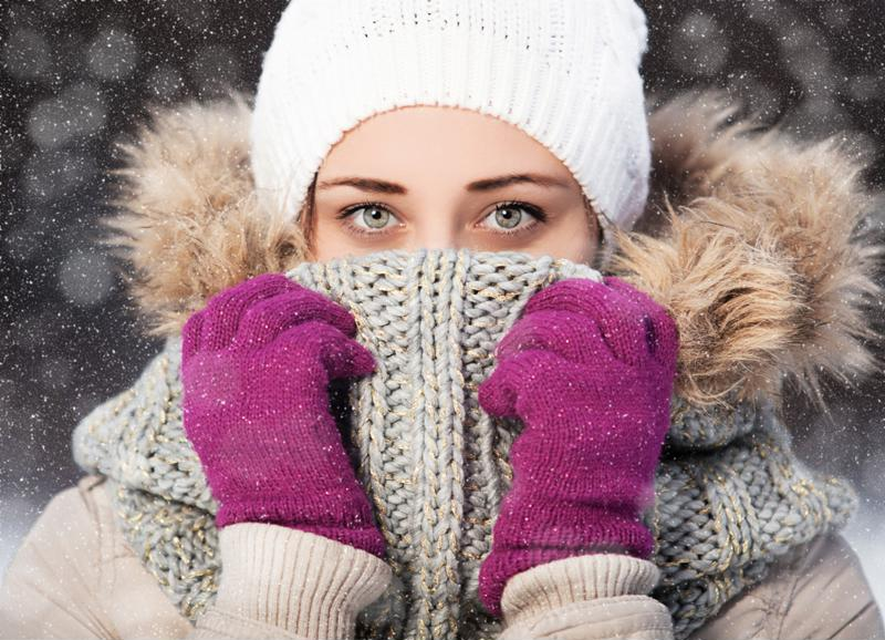 Beat the dry winter air by drinking lots of water and moisturizing.