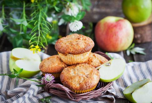 Apple muffins make a great afternoon snack.