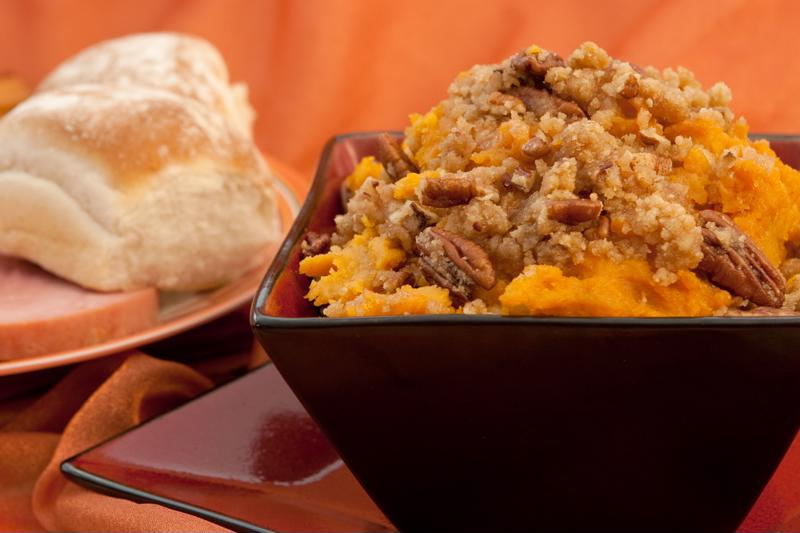 With a natural nutty sweetness, this sweet potato casserole is a tasty treat with dinner.