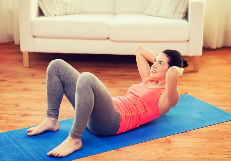 You can exercise in your own living room.