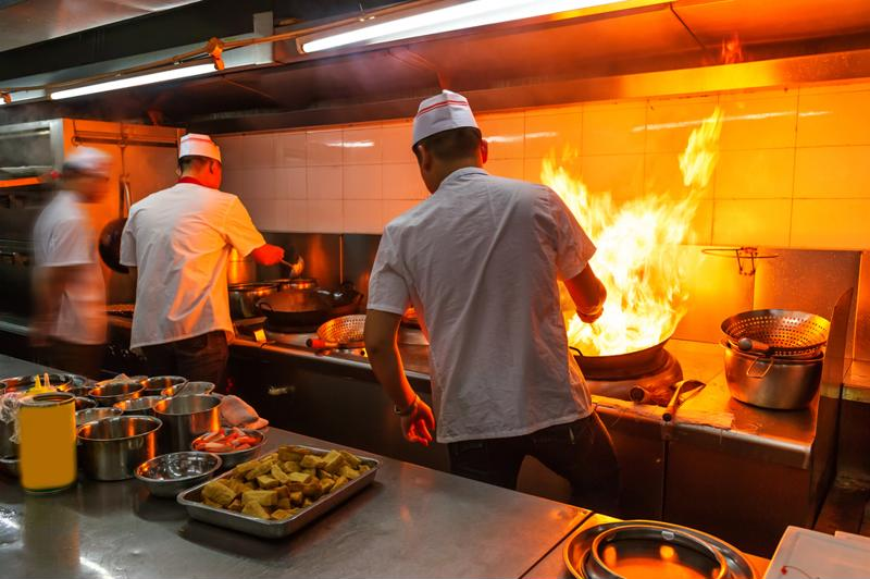Burns are a common injury in the restaurant industry.