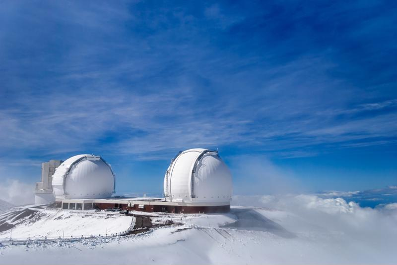 The mountaintop is such a good spot for stargazing that it has become a popular site for astronomers.