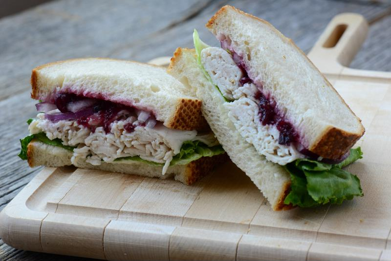 The classic take on the leftover turkey sandwich is always a crowd favorite.
