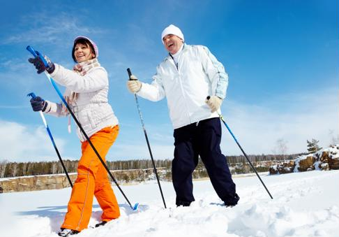 Snowshoeing is a fun winter physical activity.