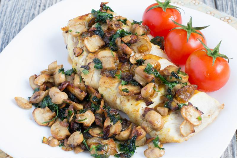 This mushroom chicken dish is hearty, flavorful and easy to prepare.
