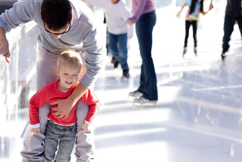 Ice skating is a fun way to stay active during the winter months.