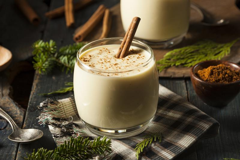 Eggnog is a very calorie-rich drink.