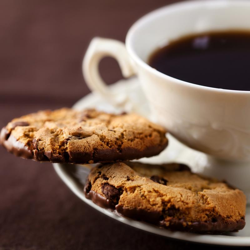 What goes well with coffee-flavored cookies? A cup of coffee, of course!