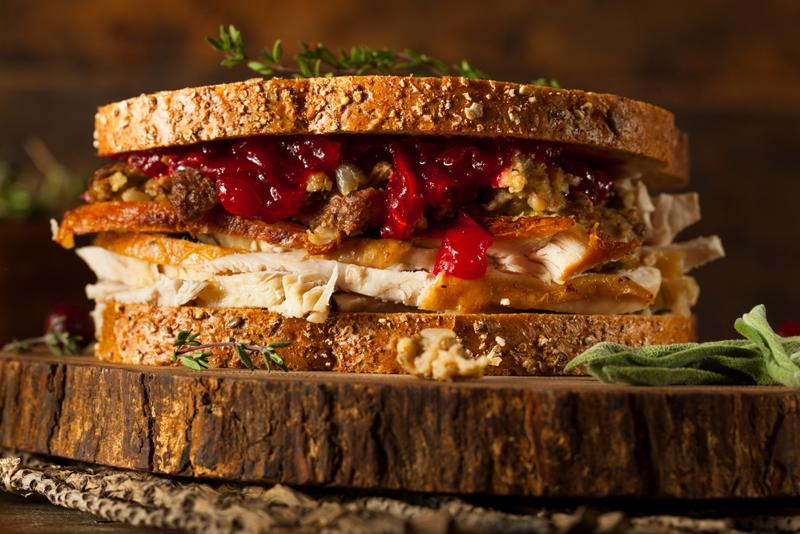 Make turkey sandwiches with your holiday leftovers.