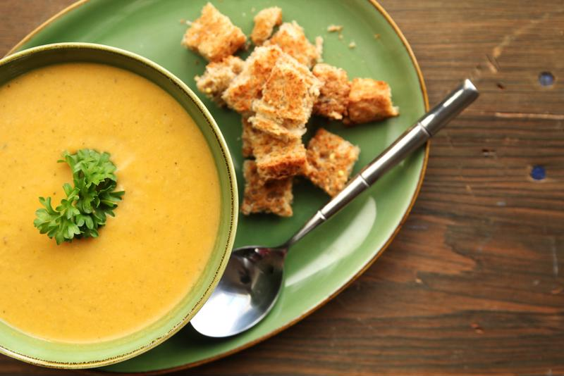 This coconut carrot soup will become a family favorite in no time!