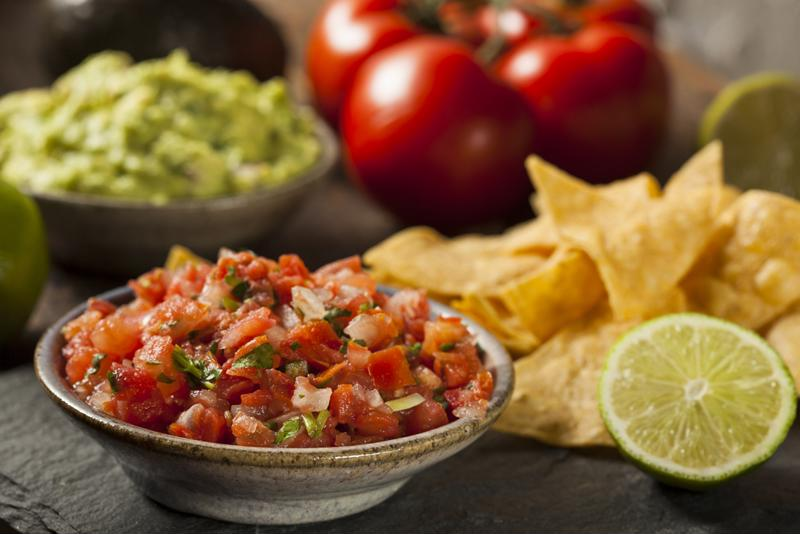 Serve delicious homemade salsa with a margarita or two.