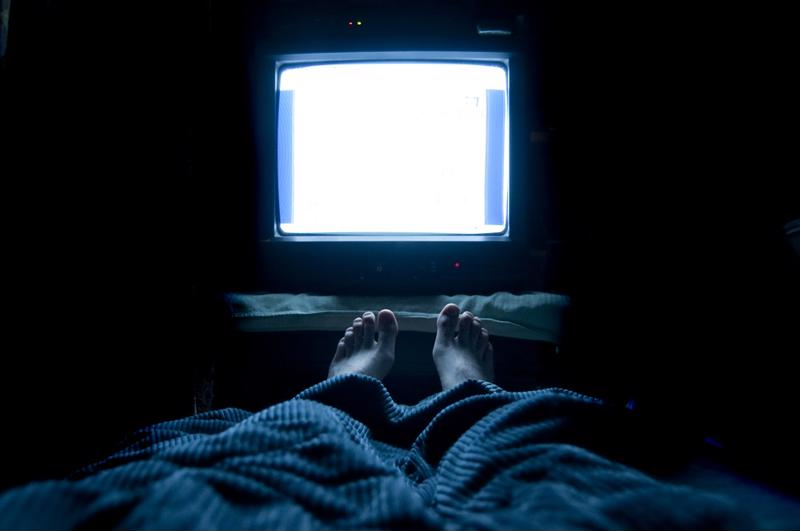 Bright screens can disrupt your sleep habits.