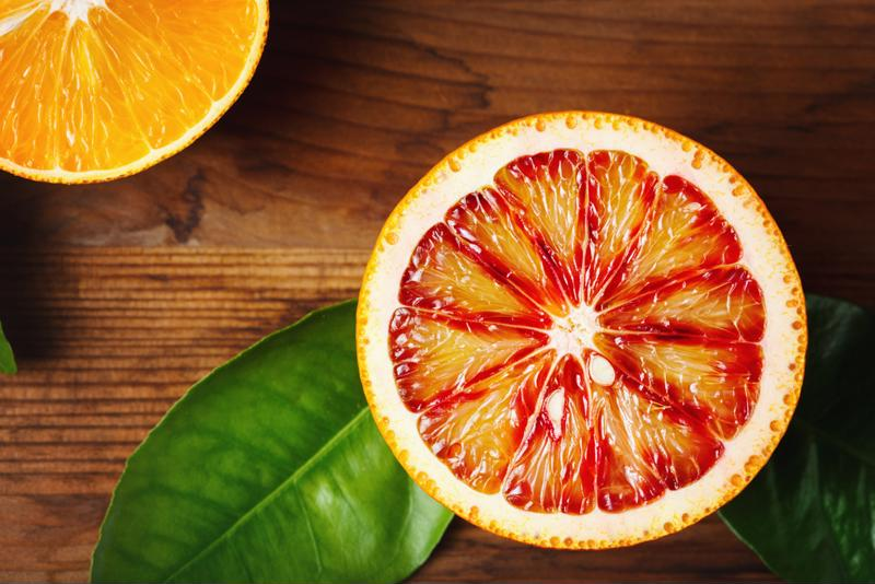 Try a bold blood orange margarita.