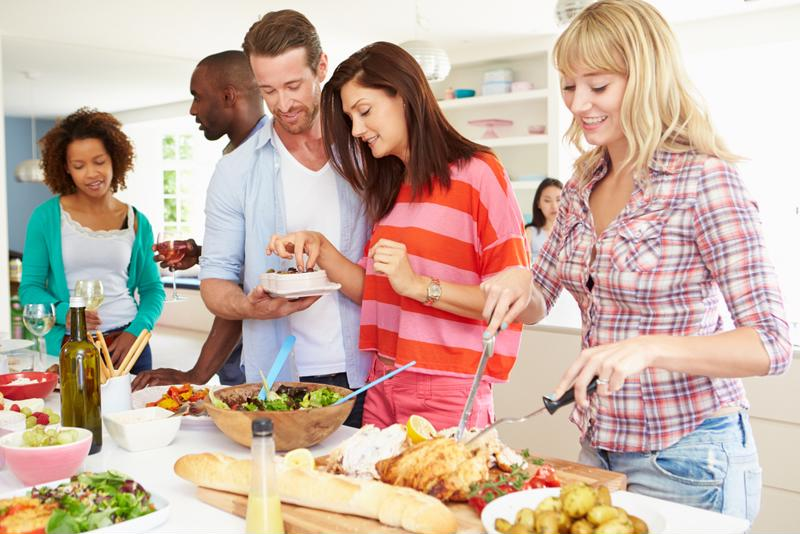 All great potluck parties have the perfect amount of appetizers, side dishes and desserts.