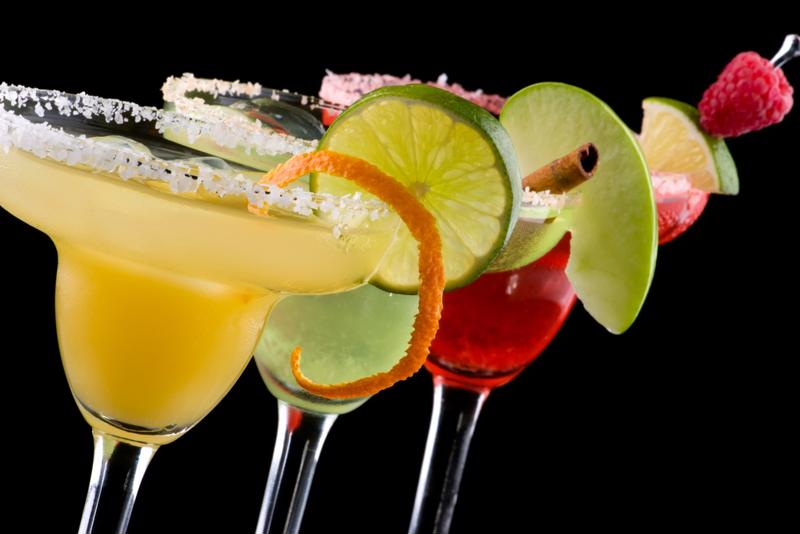 Welled margarita glasses are the most popular.