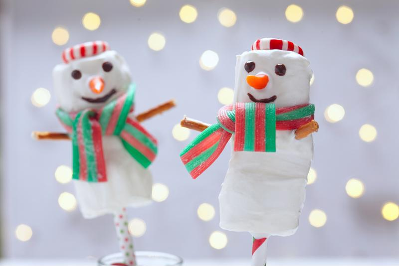 Using all kinds of candy you can get really creative with your caramel marshmallow snowmen.