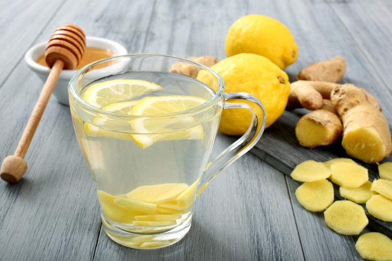 Hot water with lemon and ginger is a great way to help your immune system.