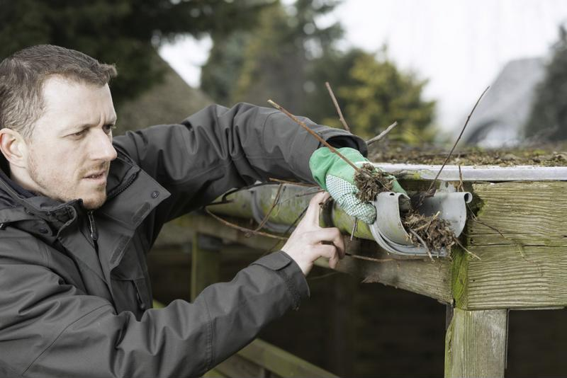 It's messy work, but cleaning your gutters now will help keep them clear for spring showers.