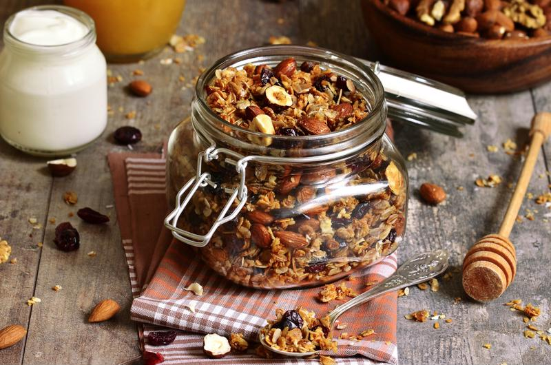 Granola can be stored and enjoyed for several weeks in an airtight container.