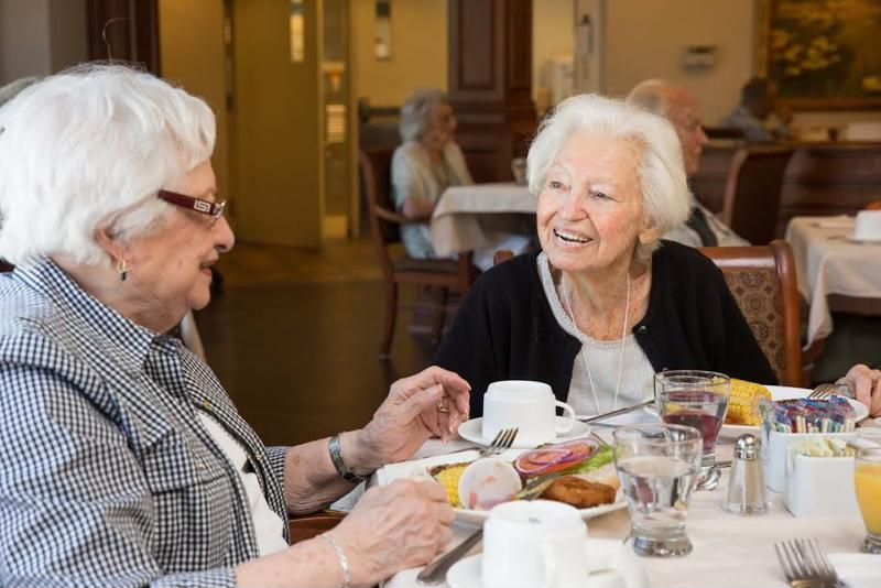 Seniors who socialize are less likely to become depressed.