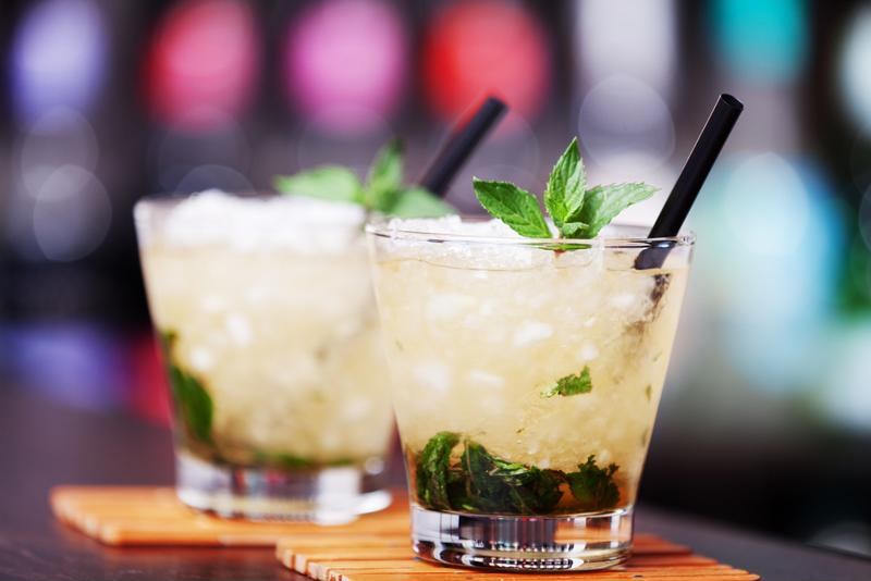 Enjoy a frozen mint julep.