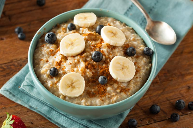 Top your oatmeal with sliced fruit and extra cinnamon for more flavor.