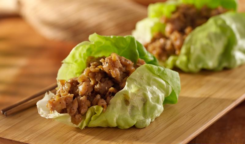 These chicken sesame lettuce wraps are bursting with flavor.