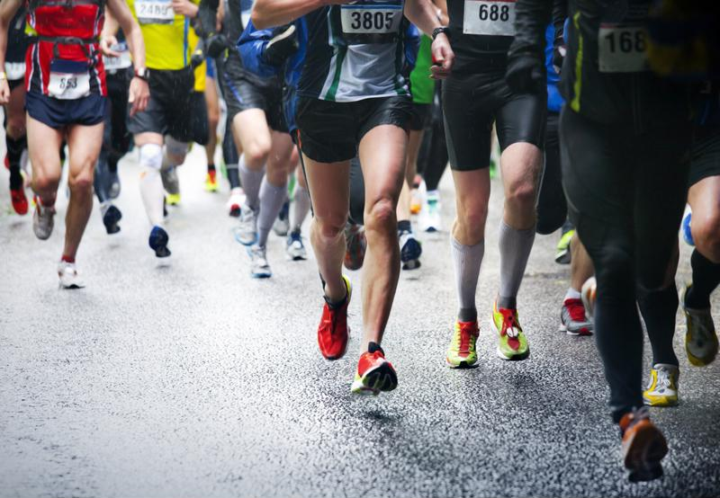 Runners in a race