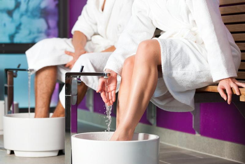 Treat your feet to a tea soak.