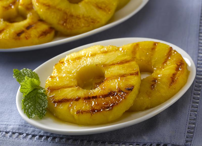 Try any of Hawaii's tempting dishes with a side of grilled pineapple.